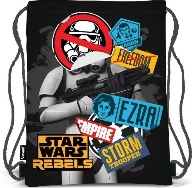 Сумка-рюкзак для обуви. Выполнена из прочного материала. Размер 43 х 34 х 1 см, Упак. 12/24/96 шт.Star Wars SWCB-MT1-883