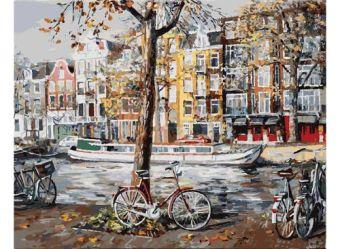 Живопись на холсте 40*50 см. Осенний Амстердам (118-AB)
