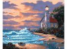 Живопись на холсте 40*50 см. Дом с маяком (401-AB)