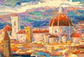 Живопись на холсте 40*50 см. Дождь над Флоренцией (896-АВ)