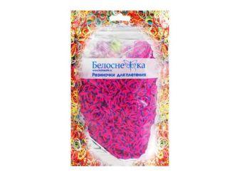 Наборы для плетения. Резиночки (1000 шт) синий+розовый (122-RB)