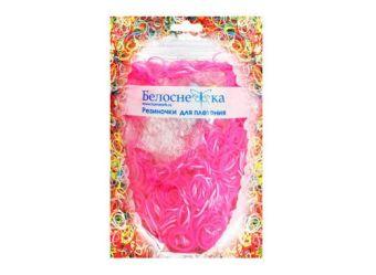 Наборы для плетения. Резиночки (1000 шт) металлик светло-розовый (133-RB)