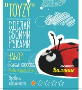 Набор TOYZY Божья коровка Валяние Начальный набор для творчества toyzy техника валяние начальный уровень сова белая
