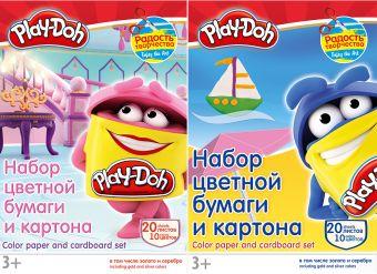 Бум и карт цв д/дет тв 10цв 20л(4мет) Папка 200*290 PD3/2-EAC Play Doh