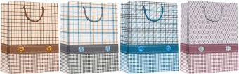 Пакет бумажный подарочный, эффект: глянцевая  поверхность,  микс из 3-х дизайнов, Размер 18 х 21 х 8,5 см, Упак. 12/360/720 шт.