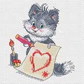148-14 Котёнок-художник