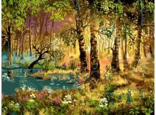 066-AS Утро в лесу