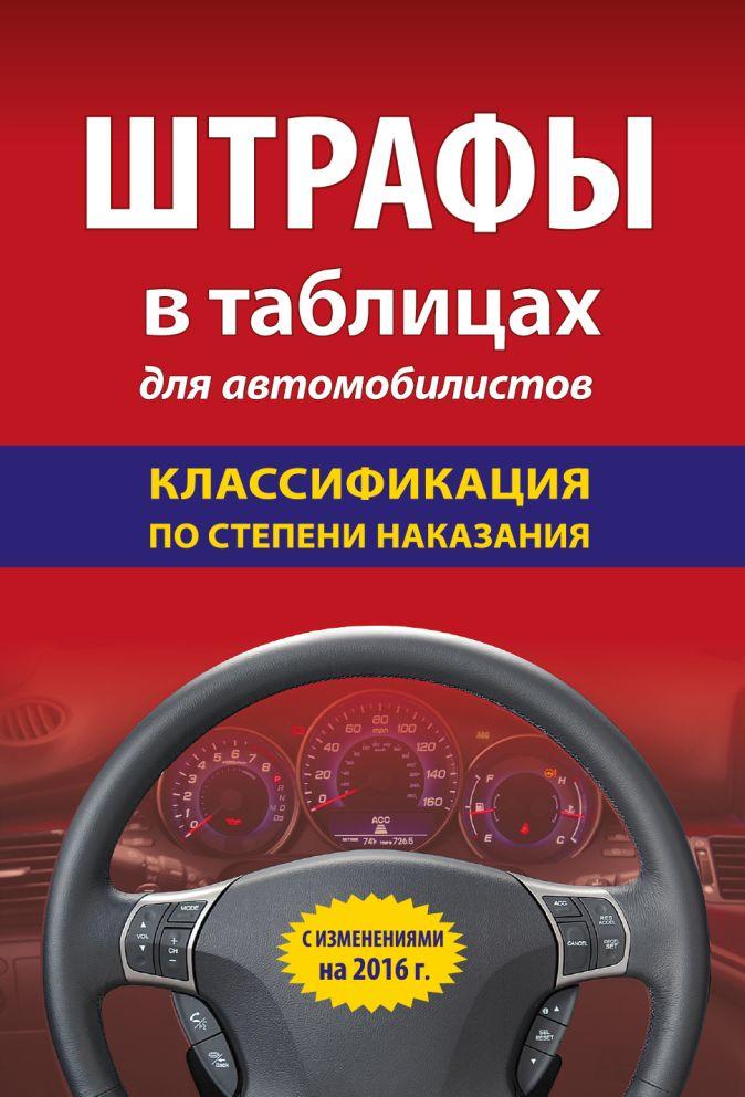 Штрафы в таблицах для автомобилистов с изм. на 2016 год (классификация по степени наказания)