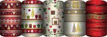 Упаковочная бумага супергладкая легкомелованная, 57 gsm, (пр-во Германия), рулон в термоусадочной пленке, Упак. по 50 шт. в коробку-дисплей, (5 дизайн