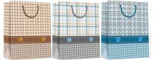 Пакет бумажный подарочный, эффект: глянцевая поверхность,  микс из 3-х дизайнов, Размер 33 х 43 х 10 см, Упак. 12/120/240 шт.
