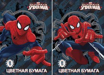 Бум цв д/дет тв 10цв 20л(4 мет) Папка 200*290 SM245,SM246-VQ Spider-man