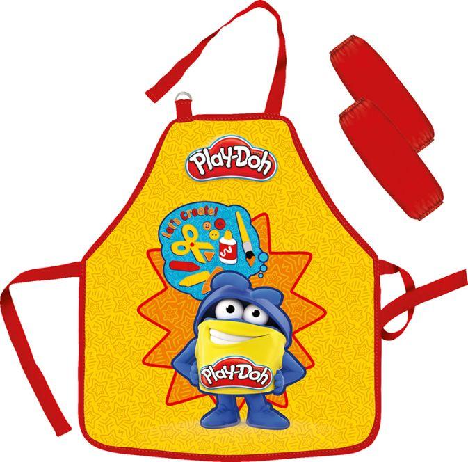 Фартук детский из водостойкого материала (с нарукавниками). Размер фартука 51 х 44 см. Размер упаковки 27 х 16,5 х 0,5 см. Play Doh