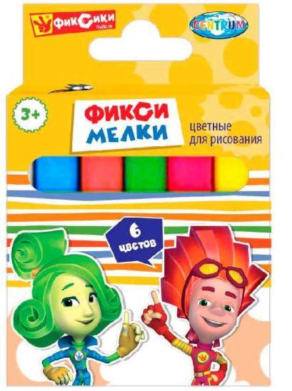Мел цветной ФИКСИКИ-6 шт. в картон.упаковке 86433 - фото 1