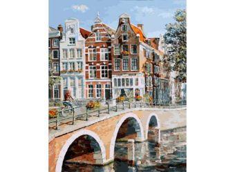 Живопись на холсте 40*50 см. Императорский канал в Амстердаме (117-AB)