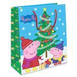 """Пакет подарочный """"Пеппа и елка"""" 230*180*100"""
