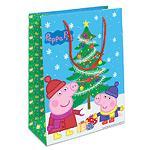 """Пакет подарочный """"Пеппа и елка"""" 350*250*90 Peppa Pig"""