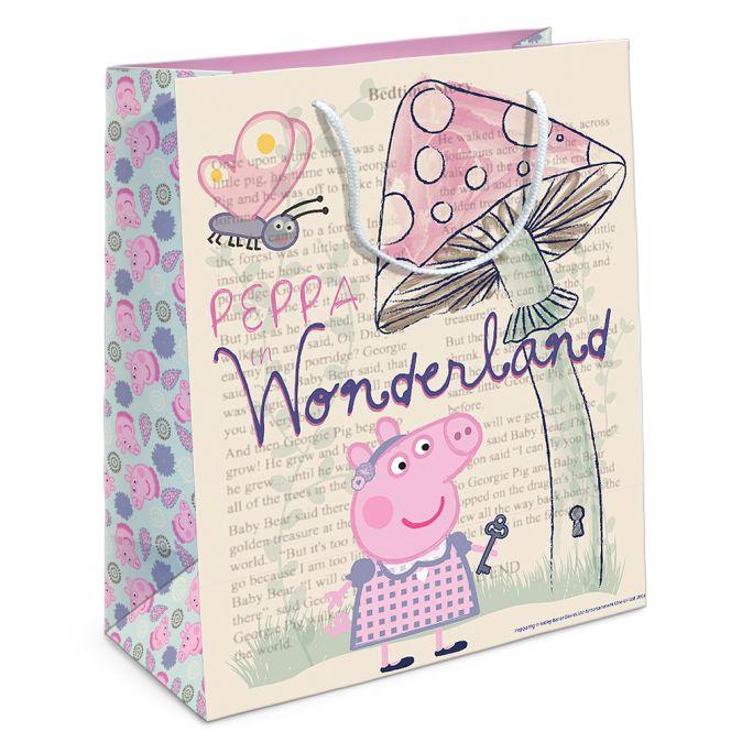 Пакет подарочный «Страна чудес Пеппы» 230*180*100 Peppa Pig