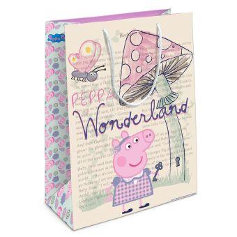 Пакет подарочный «Страна чудес Пеппы» 350*250*90 Peppa Pig