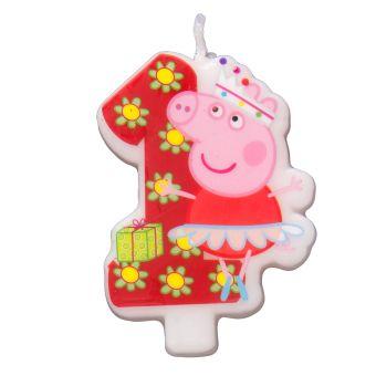 Свеча цифра №1_Peppa Pig Peppa Pig