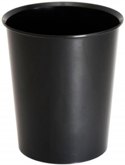 Корзина д/бумаг inФОРМАТ ОФИС 14 л цельная черный пластик