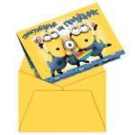 Приглашение в конверте 6 шт. Миньоны Universal Миньоны