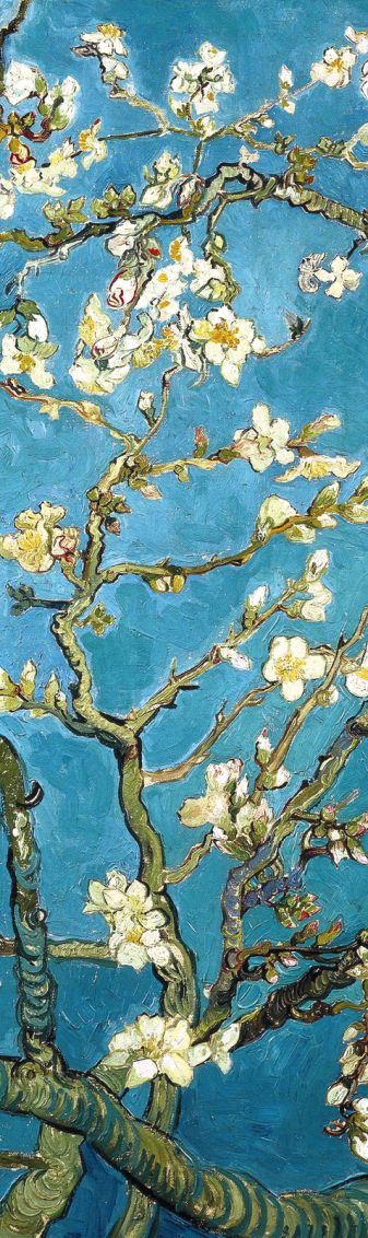 Закладка с резинкой «Ван Гог. Цветущие ветки миндаля»