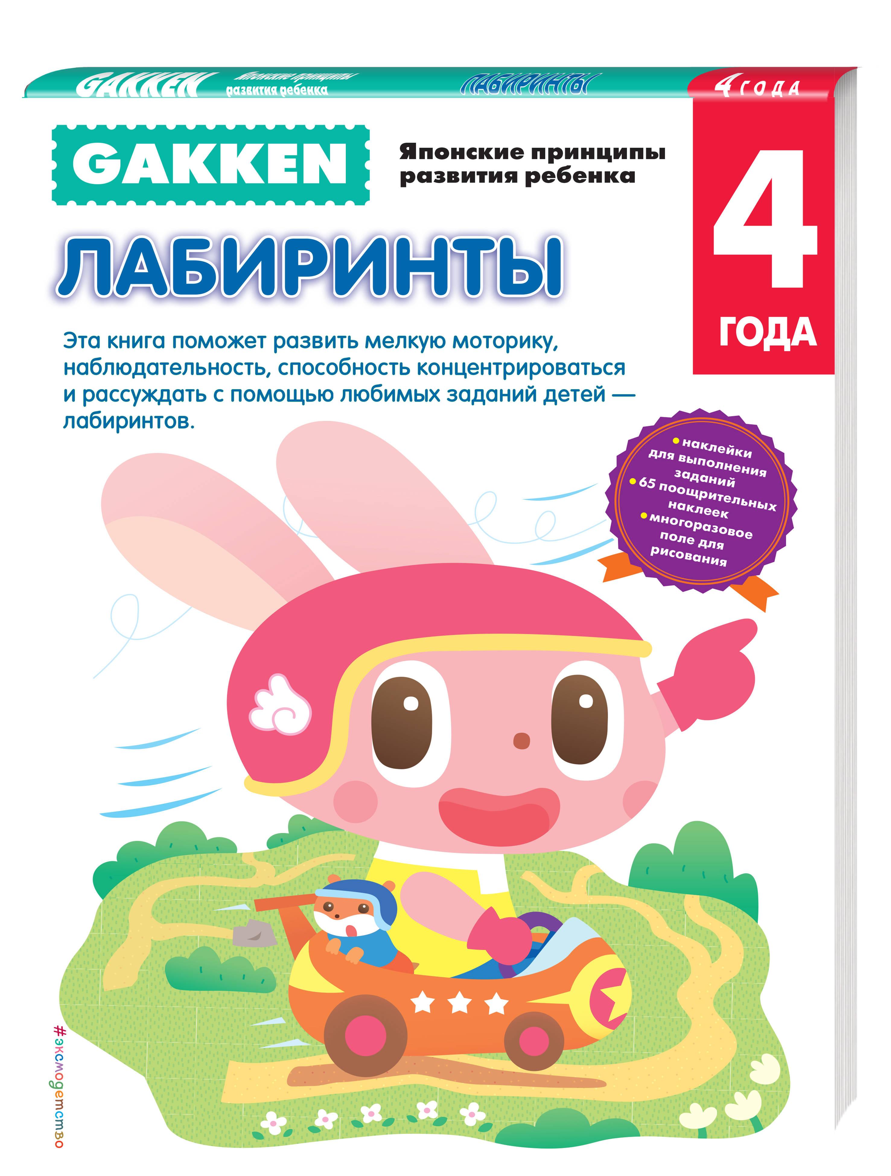 Gakken. 4+ Лабиринты книги эксмо gakken 3 рисование пастельным карандашом