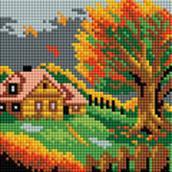 Мозаичные картины. Осенний домик (125-ST-РS)