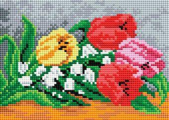 Мозаичные картины. Тюльпаны и ландыши (207-ST-PS)
