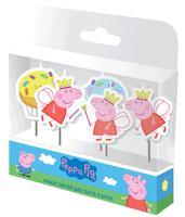 """Н-р свечей на палочках, 5шт """"Пеппа-Фея"""" Peppa Pig"""