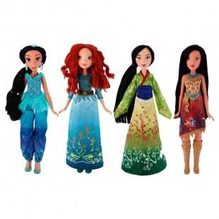 DISNEY PRINCESS - DISNEY PRINCESS Классическая модная кукла Принцесса. В ассортименте: Мулан, Жасмин, Мерида, Покахонтас (B6447) обложка книги