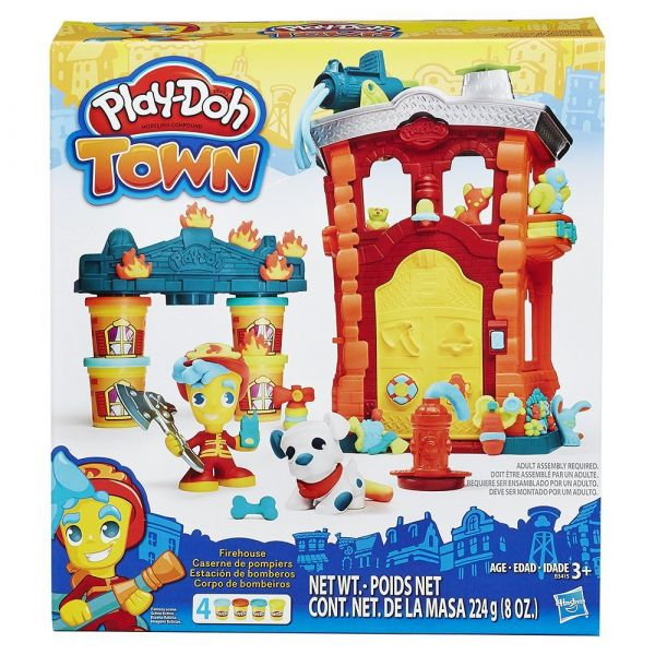 Play-Doh Город Игровой набор Пожарная станция (B3415) игровой набор hasbro город пожарная станция b3415