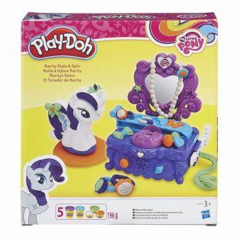 """PLAY-DOH - Play-Doh Игровой набор """"Туалетный столик Рарити"""" (B3400) обложка книги"""