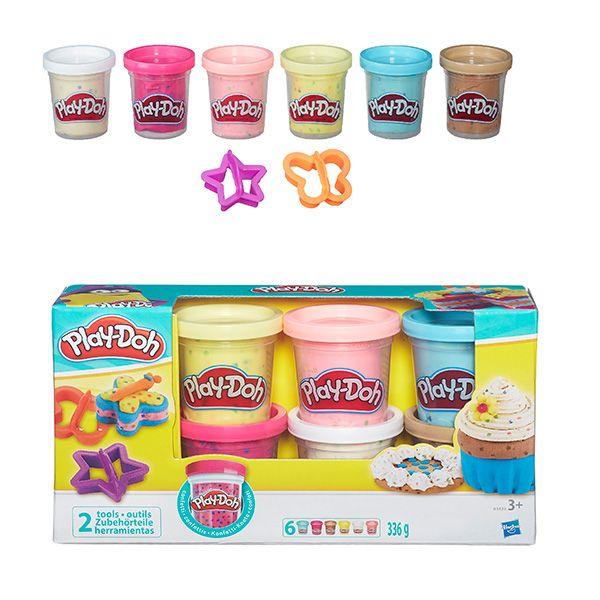 Play-Doh Пластилин: Набор из 6 баночек платилина с конфетти (B3423) PLAY-DOH