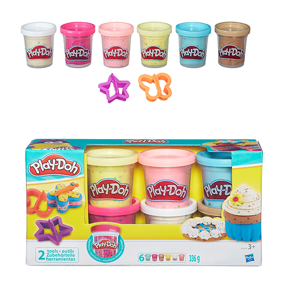PLAY-DOH - Play-Doh Пластилин: Набор из 6 баночек платилина с конфетти (B3423) обложка книги