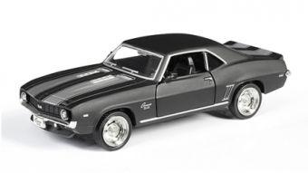 АВТОДРАЙВ. Модель машины масштаб 1:32 CHEVROLET CAMARO 1969 (матовая, черная) (Арт. И-1212)
