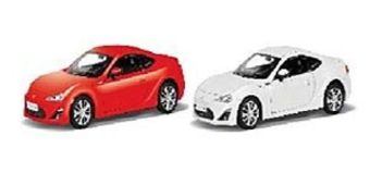 АВТОДРАЙВ. Модель машины масштаб 1:32 TOYOTA 86 (глянц., красная, белая)(Арт. И-1216)