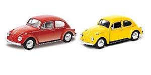 АВТОДРАЙВ. Модель машины масштаб 1:32 VOLKSWAGEN BEETLE (глянц., красная, желтая) (Арт. И-1220)
