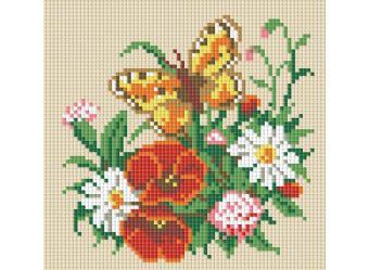 Мозаика на подрамнике. Бабочка на лугу (058-ST-S)