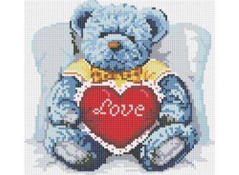 Мозаика на подрамнике. Медвежонок с сердцем (251-ST-S)