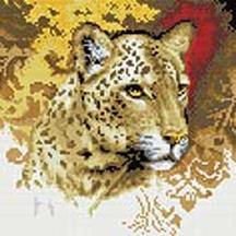 Мозаика на подрамнике. Портрет леопарда (273-ST-S)
