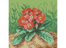 Мозаичные картины . Цветущая примула (038-ST-PS)