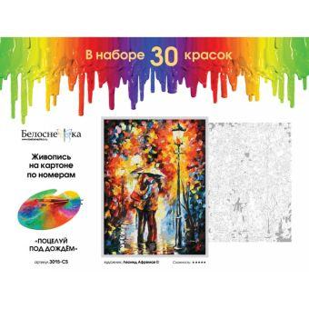 Наборы для живописи на картоне 30*40 см. Поцелуй под дождем (3015-CS)