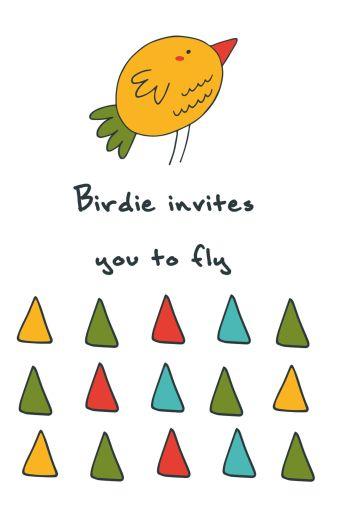 "Блокнот для записей ""Birdie invites you to fly"" (А5)"