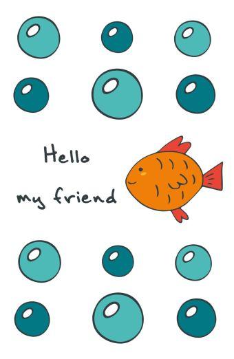 """Блокнот для записей """"Hello, my friend"""" (А5)"""