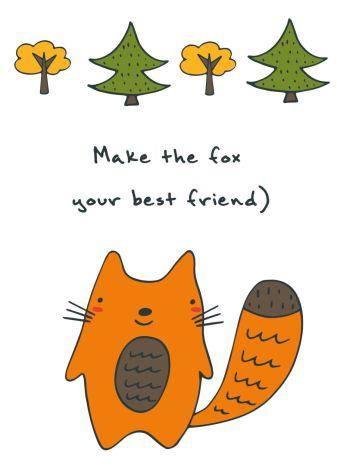 "Блокнот для записей ""Make the fox your best friend"" (А6)"