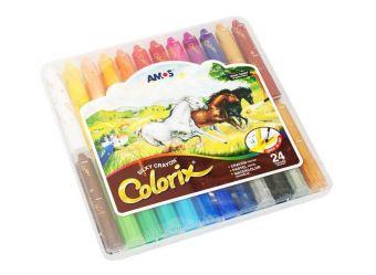 Набор для хобби и творчества CRX5PC24 Цв.карандаши 3в1 24 цвета, d=12mm