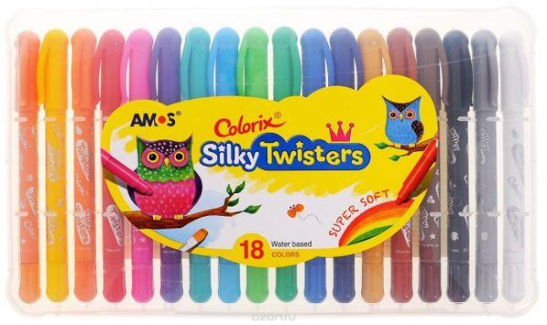 CST18 Цв.карандаши 3в1 18 цвета, d=6mm