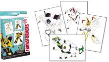 Раскраска (с объемным контуром). 4 листа, цветные карандаши (в подарок)., Transformers