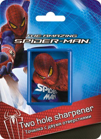 Точилка с двумя отверстиями, 1шт. Упаковка - блистер, европодвес Spider-man - фото 1